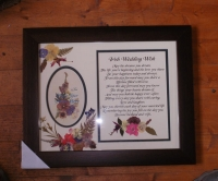 Irish Wedding Wish 11x14 Brown Frame